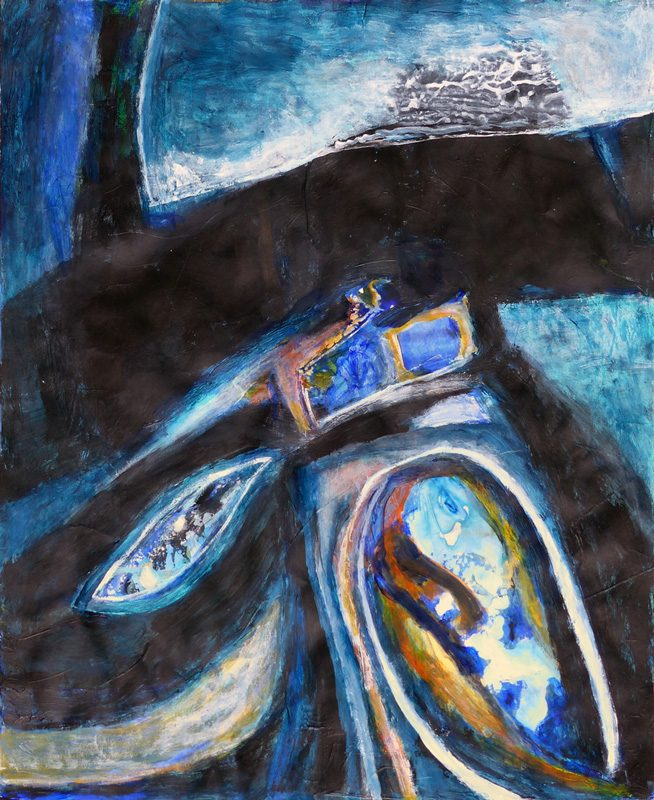 Madeleine Gautier-Brun 2018 Chaos 3 - Acrylique sur papier 50 x 65 cm