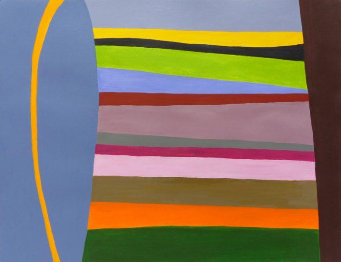 Mireille Vincent 2018 - Champ coloré (II) - Acrylique sur papier