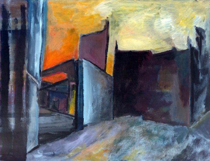 Ladin Sabras 2018 - Ruine industrielle (VI)- Acrylique sur papier 50 x 65 cm