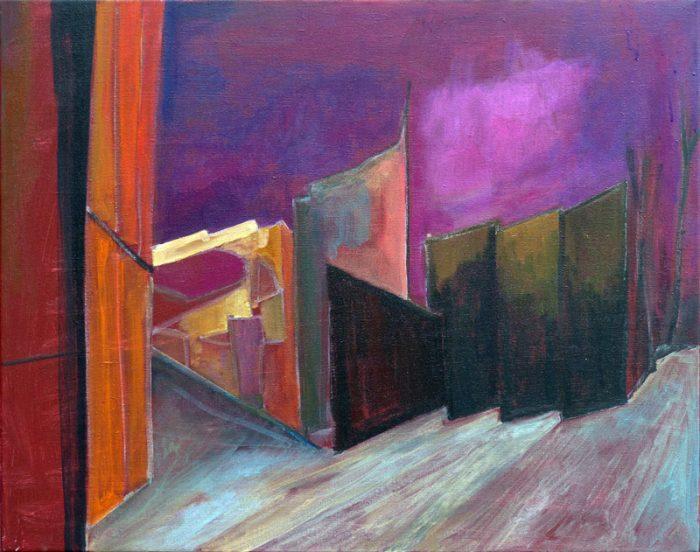 Ladin Sabras 2018 - Ruine industrielle (VII)- Acrylique sur papier 50 x 65 cm