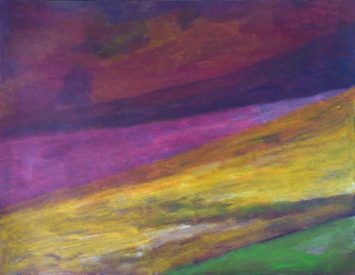 Ladin Sabras 2018 - Champ coloré (I) - Acrylique sur papier 50 x 65 cm