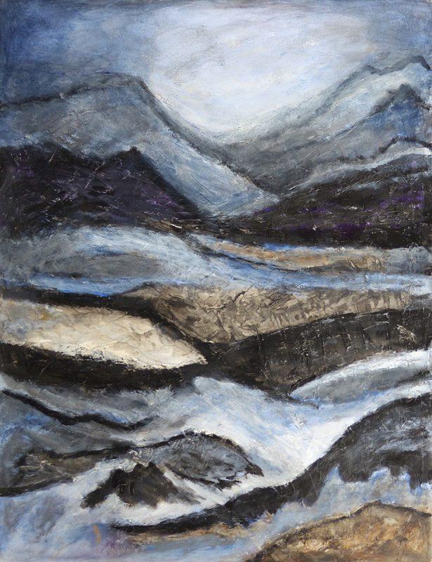Madeleine Gautier-Brun 2019 - Paysage 1 - Acrylique sur papier 50 x 65 cm