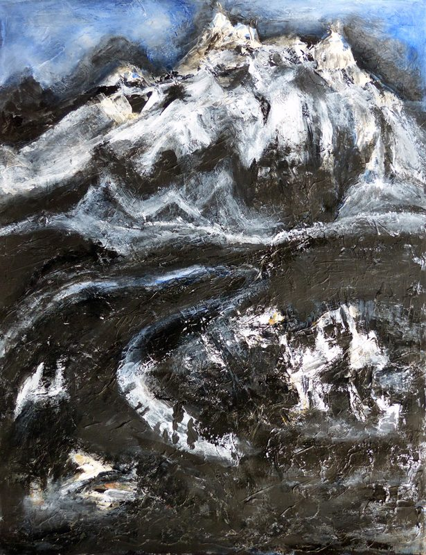 Madeleine Gautier-Brun 2019 - Paysage 2 - Acrylique sur papier 50 x 65 cm