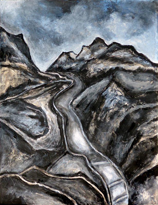 Madeleine Gautier-Brun 2019 - Paysage 3 - Acrylique sur papier 50 x 65 cm