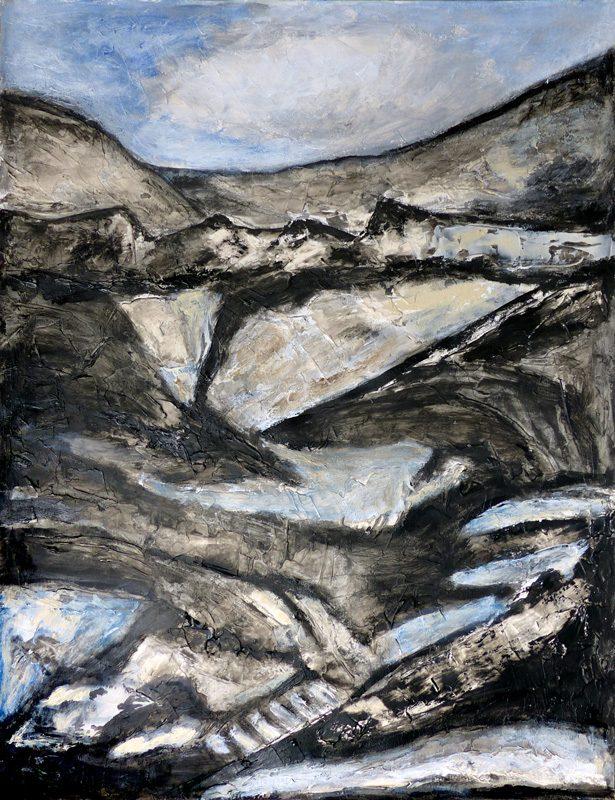 Madeleine Gautier-Brun 2019 - Paysage 4 - Acrylique sur papier 50 x 65 cm