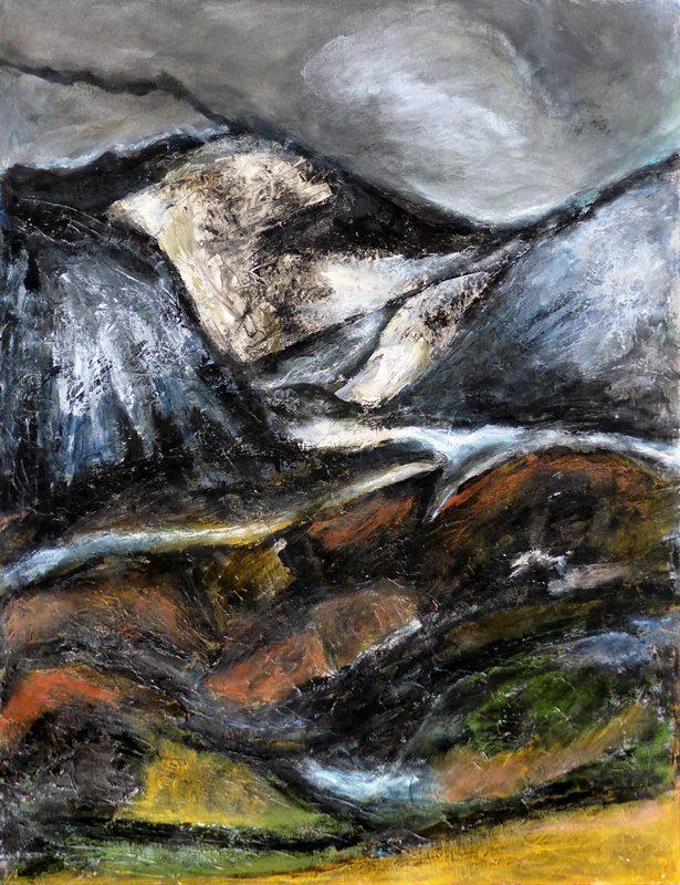 Madeleine Gautier-Brun 2019 - Paysage 5 - Acrylique sur papier 50 x 65 cm