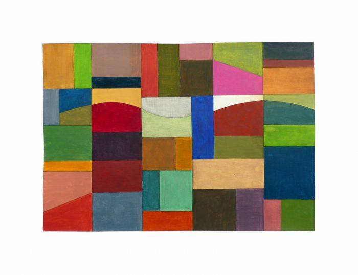 Yolande Bernard 2019 - Couleurs familières et étrangères (I) - Acrylique sur papier 35 x 50 cm