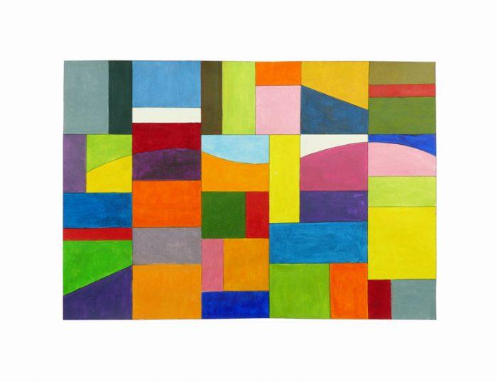 Yolande Bernard 2019 - Couleurs familières et étrangères (II) - Acrylique sur papier 35 x 50 cm