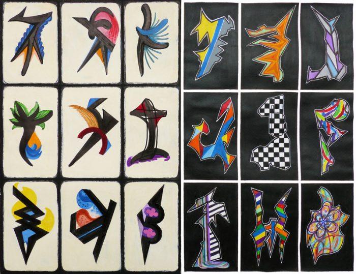 Yolande Bernard 2019 - Bouleau d'écriture - Acrylique sur papier 50 x 65 cm