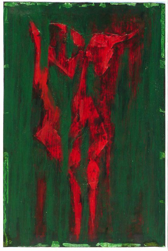 Yolande Bernard 2019 - Chimère 8 - Acrylique sur papier 32,5 x 50 cm