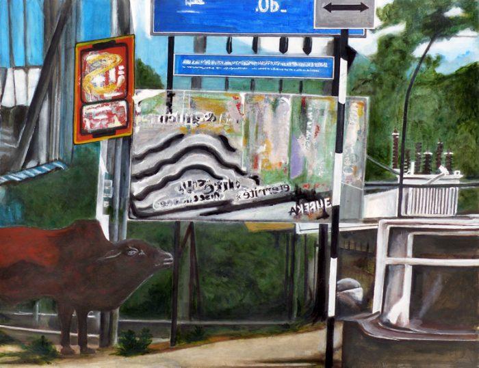 Yolande Bernard 2019 - Bandarawella - Acrylique sur papier 50 x 65 cm