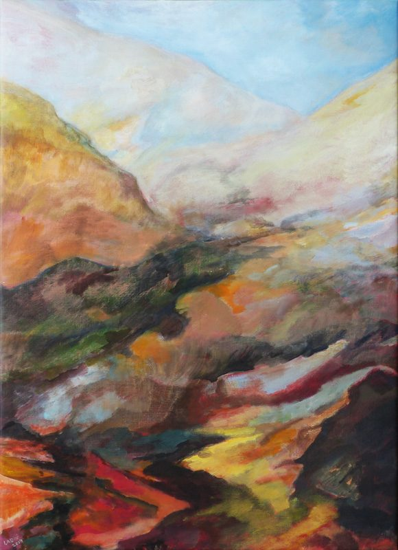 Ladin Sabras 2019 - Paysage vertical (II) - Peinture sur toile