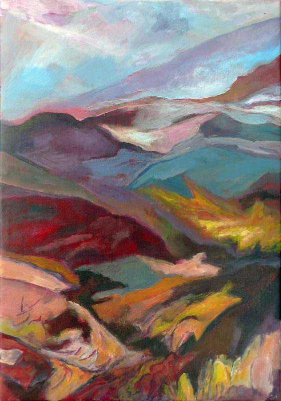 Ladin Sabras 2019 - Paysage vertical (IV) - Peinture sur toile