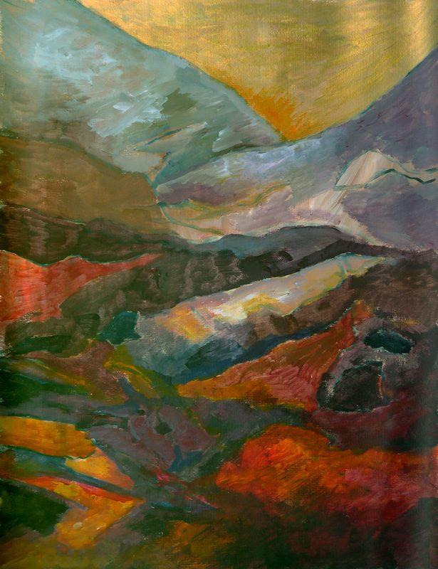Ladin Sabras 2019 - Paysage vertical (III) - Peinture sur toile