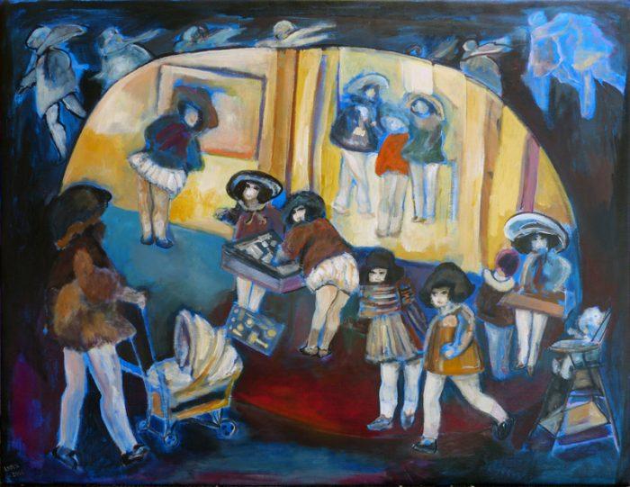 Ladin Sabras 2019 - Jouer et déjouer les poupées (III) - Peinture sur toile