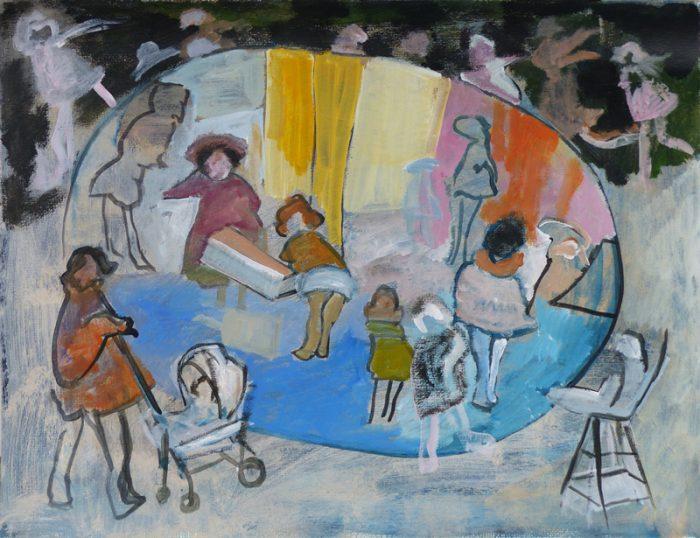 Ladin Sabras 2019 - Jouer et déjouer les poupées (I) - Peinture sur toile