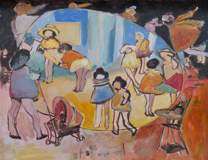 Ladin Sabras 2019 - Jouer et déjouer les poupées (II) - Peinture sur toile