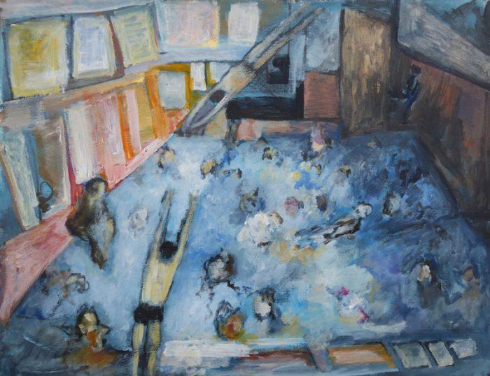 Ladin Sabras 2019 - Plonger dans la peinture (I) - Acrylique sur toile