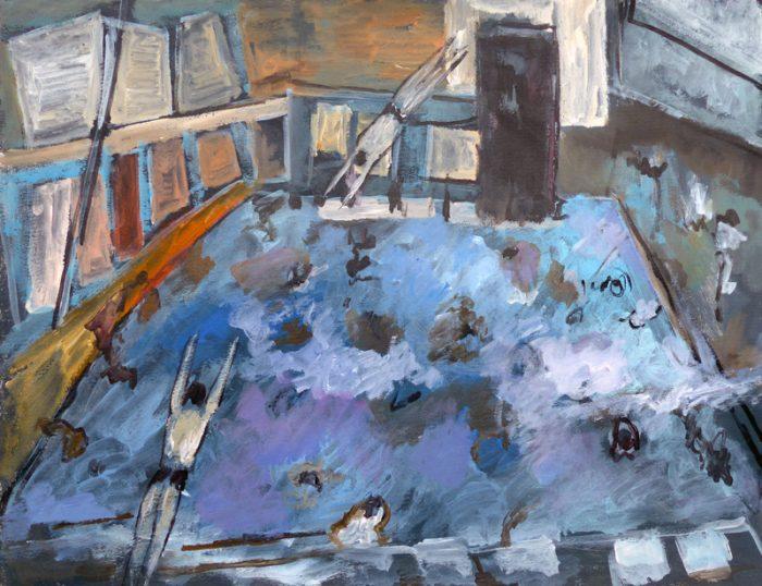 Ladin Sabras 2019 - Plonger dans la peinture (II) - Acrylique sur toile