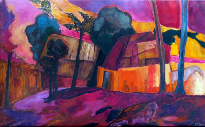 Ladin Sabras 2019 - Conversation secrète - Acrylique sur toile