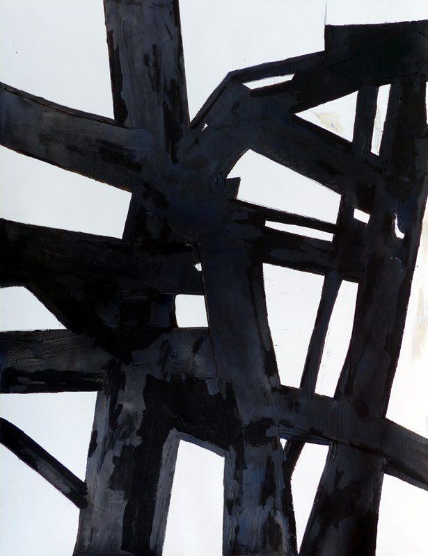 Madeleine Gautier-Brun 2019 - Signes objets 7 - Acrylique sur papier 50 x 65 cm