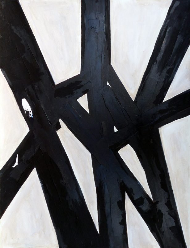Madeleine Gautier-Brun 2019 - Signes objets 8 - Acrylique sur papier 50 x 65 cm