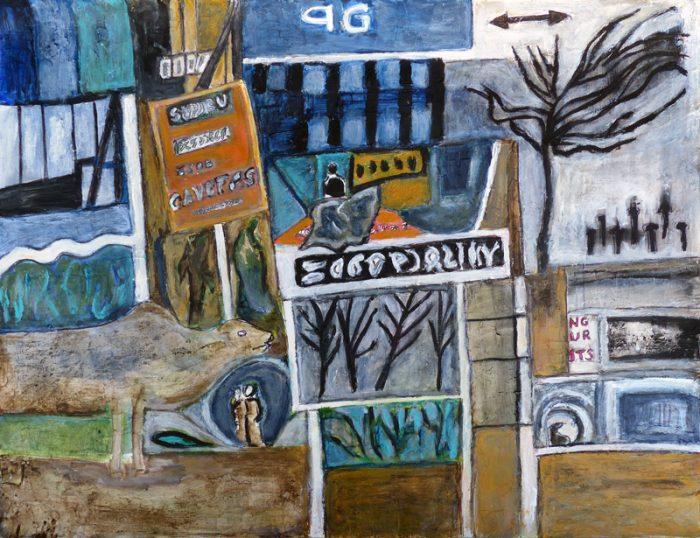 Madeleine Gautier-Brun 2019 - Bandarawella (I) - Acrylique sur papier 50 x 65 cm