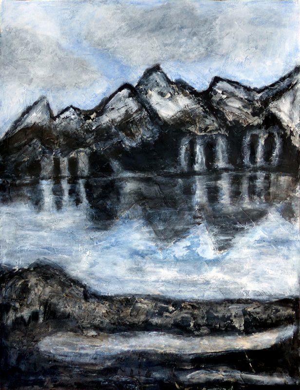 Madeleine Gautier-Brun 2019 - Paysage 7 - Acrylique sur papier 50 x 65 cm