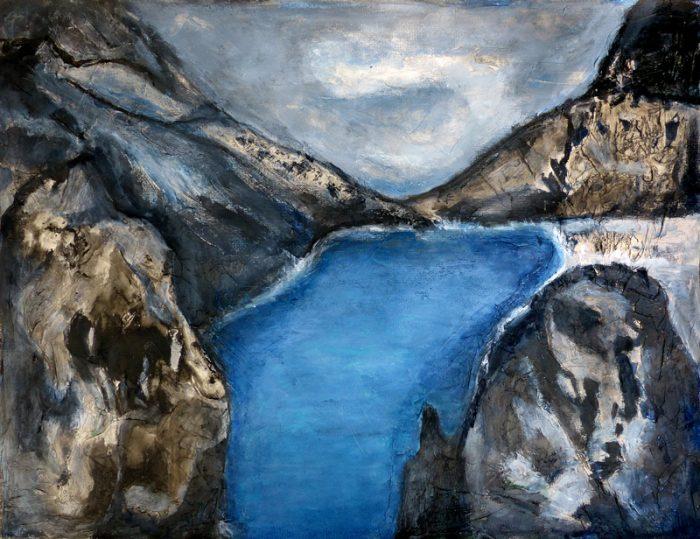 Madeleine Gautier-Brun 2019 - Paysage 8 - Acrylique sur papier 50 x 65 cm