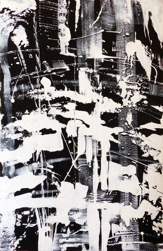 Marie Kresser-Verbois 2019 - Bouleau au couteau (II) - Acrylique  sur papier 35 x 50 cm