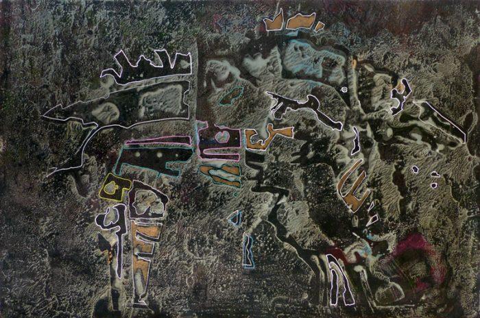 Marie Kresser-Verbois 2019 - Chimère (I) - Acrylique  sur papier 35 x 50 cm