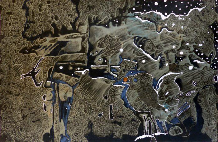 Marie Kresser-Verbois 2019 - Chimère (III) - Acrylique  sur papier 35 x 50 cm
