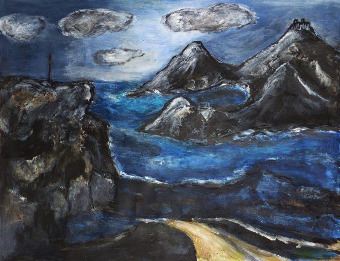 Madeleine Gautier-Brun 2019 - Paysage 10 - Acrylique sur papier 50 x 65 cm