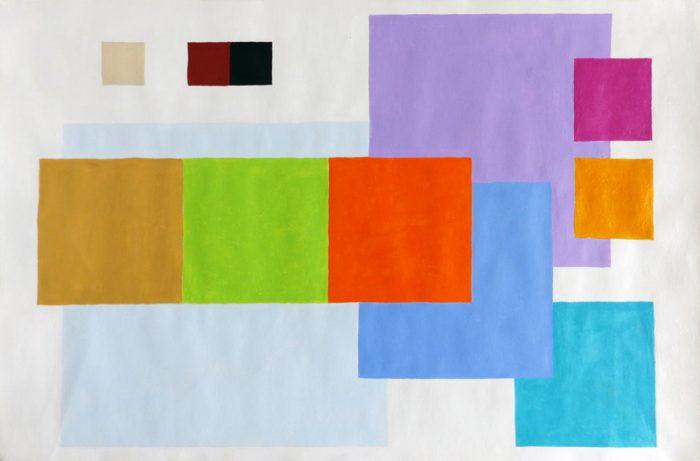 Isabelle Bisson 2019 - Couleurs familières et étrangères - Peinture acrylique sur papier.