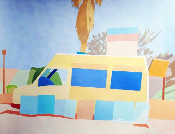 Isabelle Bisson 2020 - Un camion, modèle sans options - Acrylique sur papier 50 x 65 cm