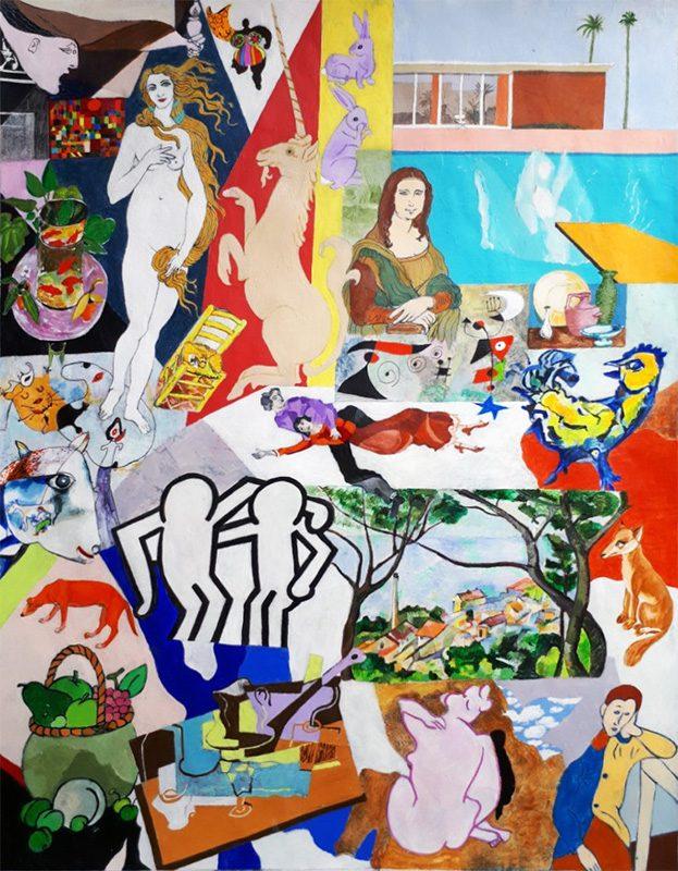 Isabelle Bisson 2020 - Arbitraire ordonné - Acrylique sur papier 50 x 65 cm
