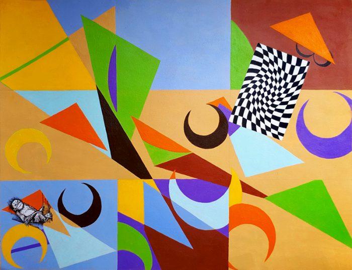Isabelle Bisson 2020 - Peinture en neuf mois - Partie I - Acrylique sur papier 50 x 65 cm