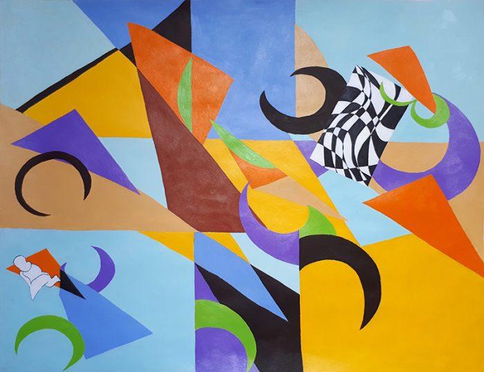 Isabelle Bisson 2020 - Peinture en neuf mois - Partie II - Acrylique sur papier 50 x 65 cm
