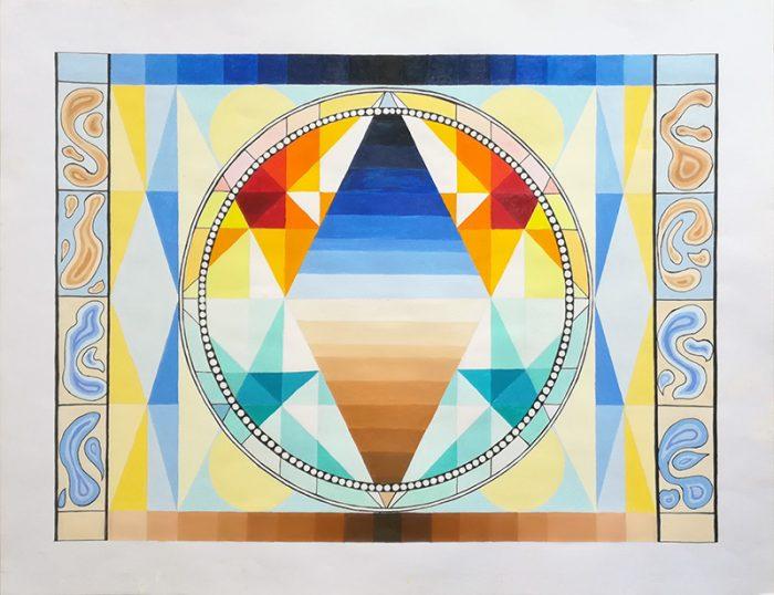 Isabelle Bisson 2021 - Mandala - Acrylique sur papier 50 x 65 cm