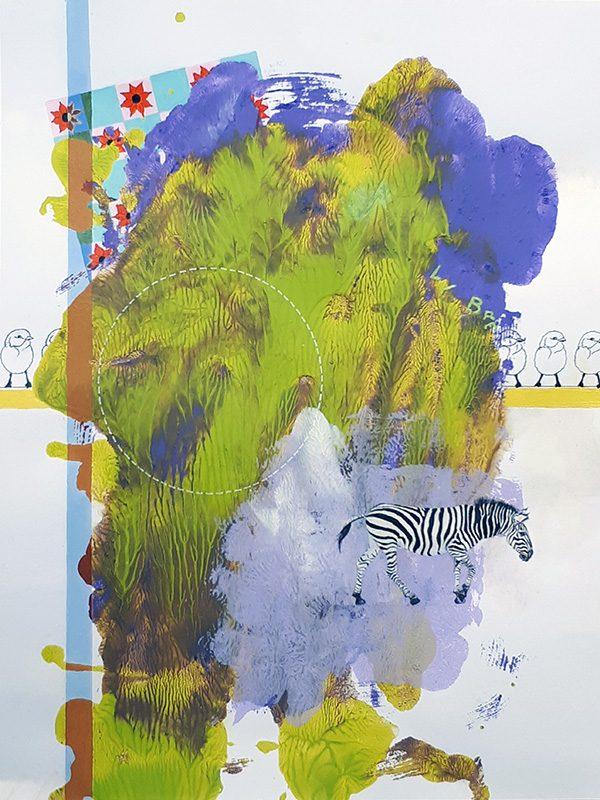 Isabelle Bisson 2021 - Peinture en neuf mois - Partie I - Acrylique sur papier 50 x 65 cm