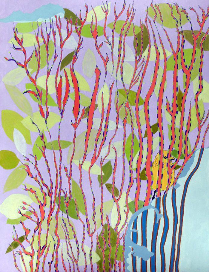 Isabelle Bisson 2021 - Peinture en neuf mois - Partie IV - Acrylique sur papier 50 x 65 cm