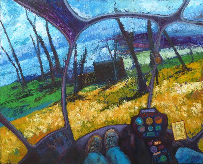 Ladin Sabras 2021 - Survoler sa peinture - Acrylique sur toile