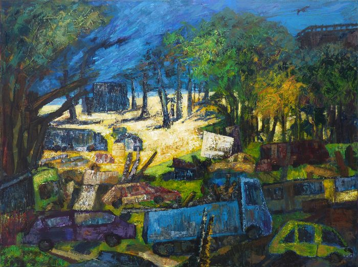 Ladin Sabras 2021 - Embouteillage très longue durée - Acrylique sur toile