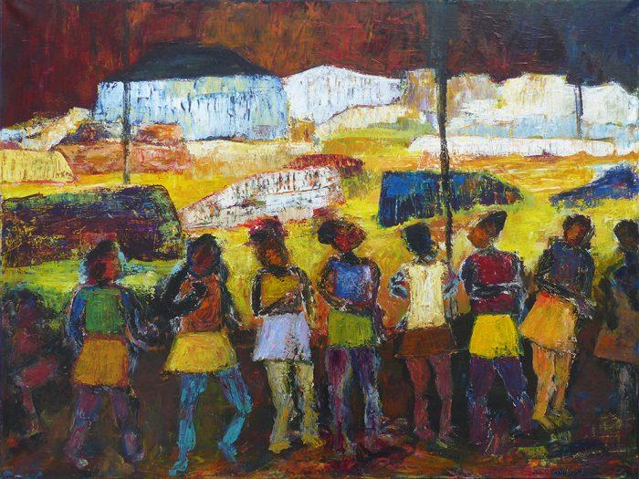 Ladin Sabras 2021 - Petites chanteuses de rue (I) - Acrylique sur toile