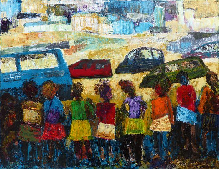 Ladin Sabras 2021 - Petites chanteuses de rue (II) - Acrylique sur toile
