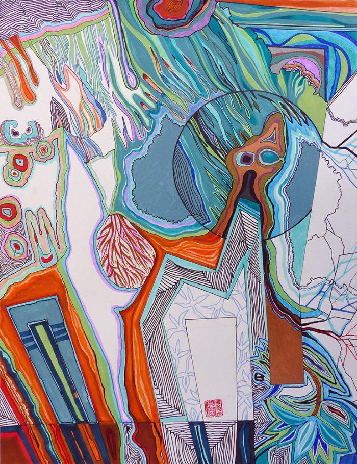 Marie Kresser-Verbois 2021 - Peinture en neuf mois n°9 (III)