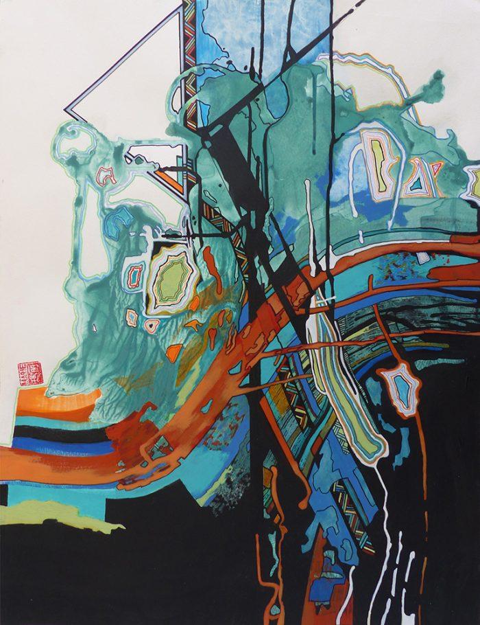 Marie Kresser-Verbois 2021 - Peinture en neuf mois n°9 (IV)