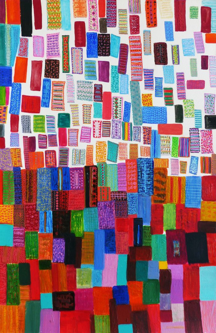 Mireille Vincent 2019 - Souvenirs tapis - Acrylique sur papier