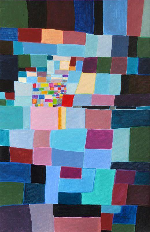 Mireille Vincent 2019 - Génération spontanée de rectangles - Acrylique sur papier