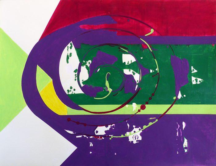 Mireille Vincent 2021 - Peinture en neuf mois N°9 (V) - Acrylique sur papier 50 x 65 cm